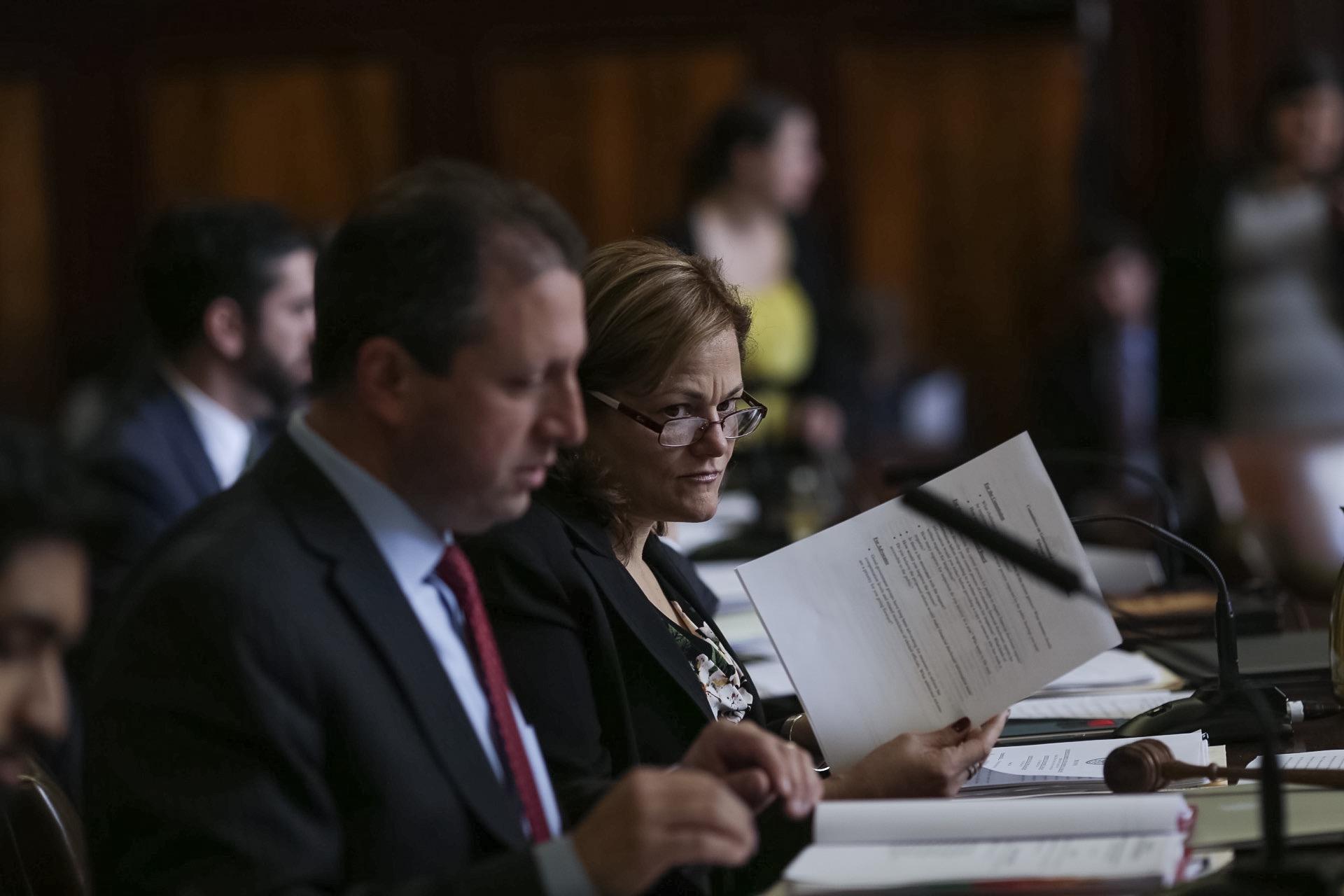 Councilman Brad Lander and Council Speaker Melissa Mark-Viverito at today's hearing. (Photo: William Alatriste/New York City Council)