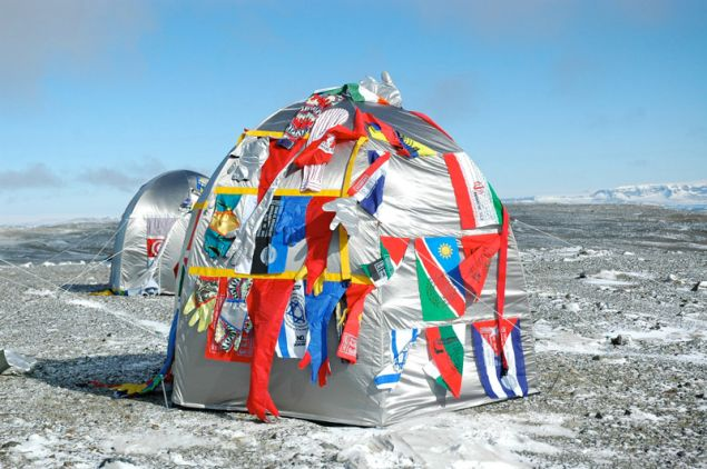 Lucy + Jorge Orta, Antarctic Village - No Borders, Dome Dwelling, (2007).