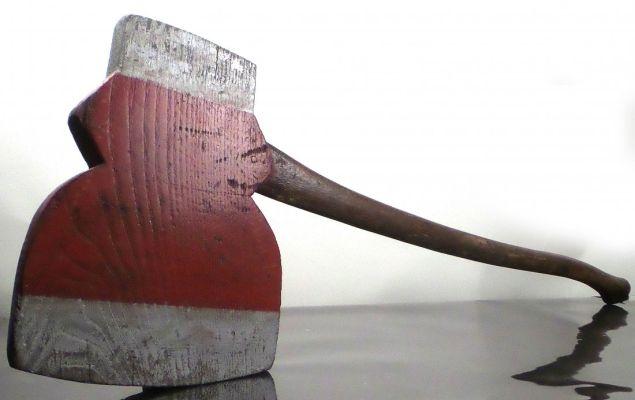 Wooden Blade Campaign Axe. Est. $8,000-$12,000.