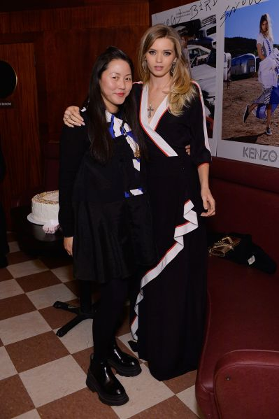 Designer Carol Lim with actress Abbey Lee Kershaw (Photo: Stefanie Keenan/Getty Images for Kenzo).