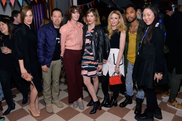Liz Goldwyn, Humberto Leon, Miranda July, Carrie Brownstein, Natasha Lyonne, Miguel, Carol Lim (Photo: Stefanie Keenan/Getty Images for Kenzo)