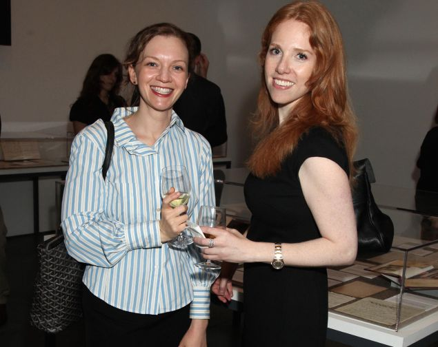 Elizabeth Riley and Casey Greenfield, right, at The Museum of Modern Art, New York City, March 23, 2010. (Photo by PatrickMcMullan for an.com)