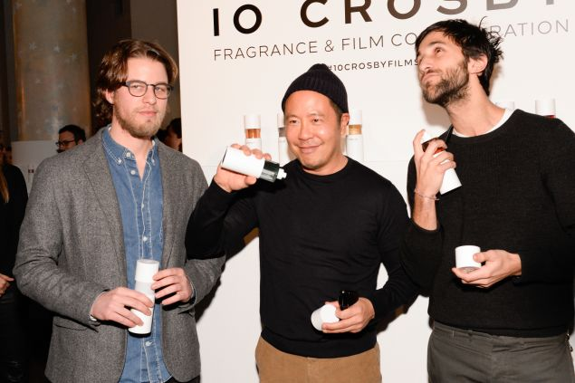 Henry Joost, Derek Lam, Ariel Schulman goof around at the film premiere (Photo: Patrick McMullan).