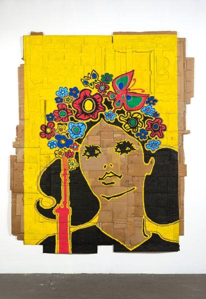 Andrea Bowers, Intl. Women's Day (Illustration by Heriberto C. Echeverria Del Pozo, Cuban Communist Party Publishers, 1972), (2015).