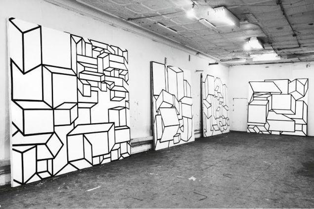 Al Held, Fifth Avenue Studio, 1968.