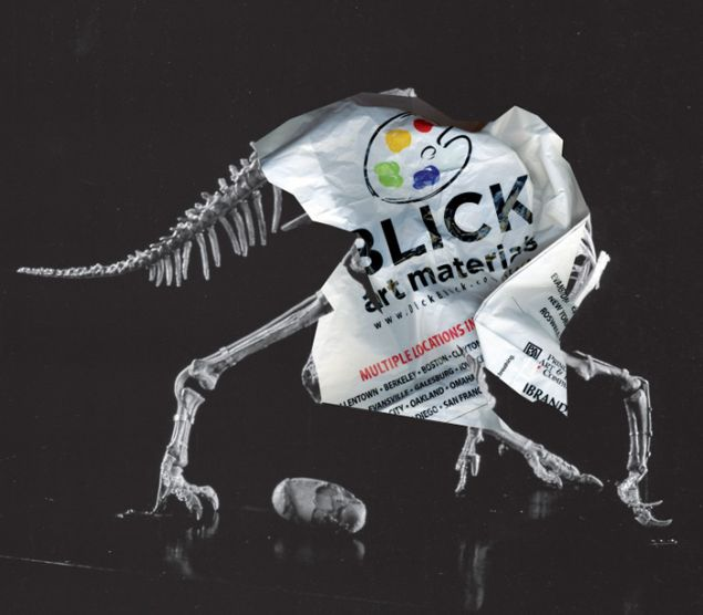 Michael Riedel, Untitled (Art Material_Oviraptor), 2015.