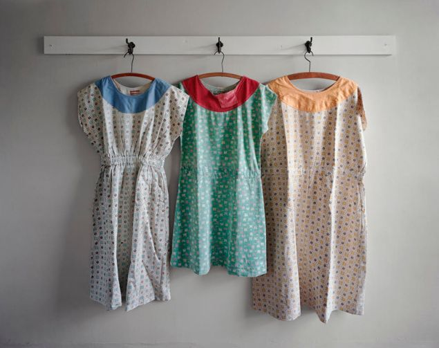Christopher Payne, Patient Dresses made at Clarinda State Hospital, Clarinda, Iowa, 2007. (Courtesy the artist and Benrubi Gallery)