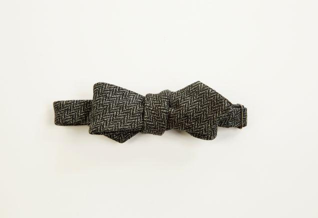 Alexander Olch The Grey Brown Bow Tie in Dark Grey, $110, Olch.com