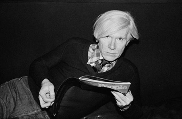 Warhol Reading, 1978.