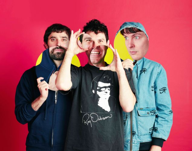 (L-R) Brian Weitz (Geologist), Dave Portner (Avey Tare), and Noah Lennox (Panda Bear) are the current lineup of Animal Collective
