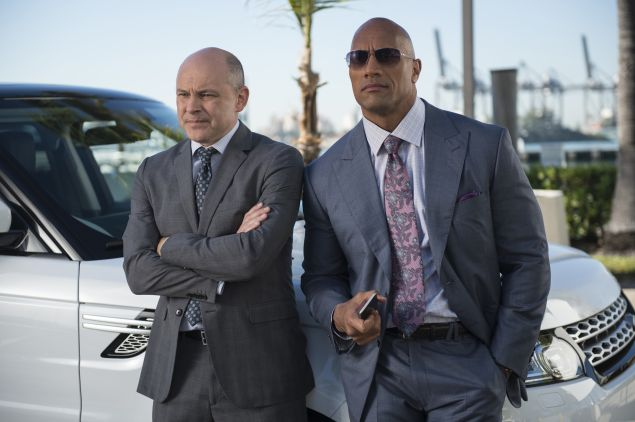 Rob Corddry and Dwayne Johnson in Ballers.