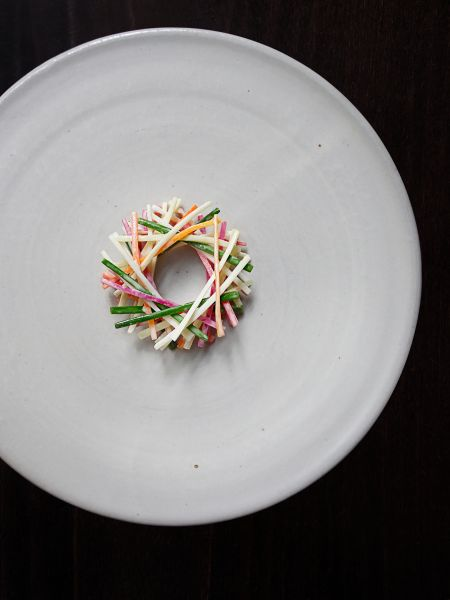 Betony_Cole Slaw- fermented parsnips, carrots and radishes_Photo Credit- Signe Birck