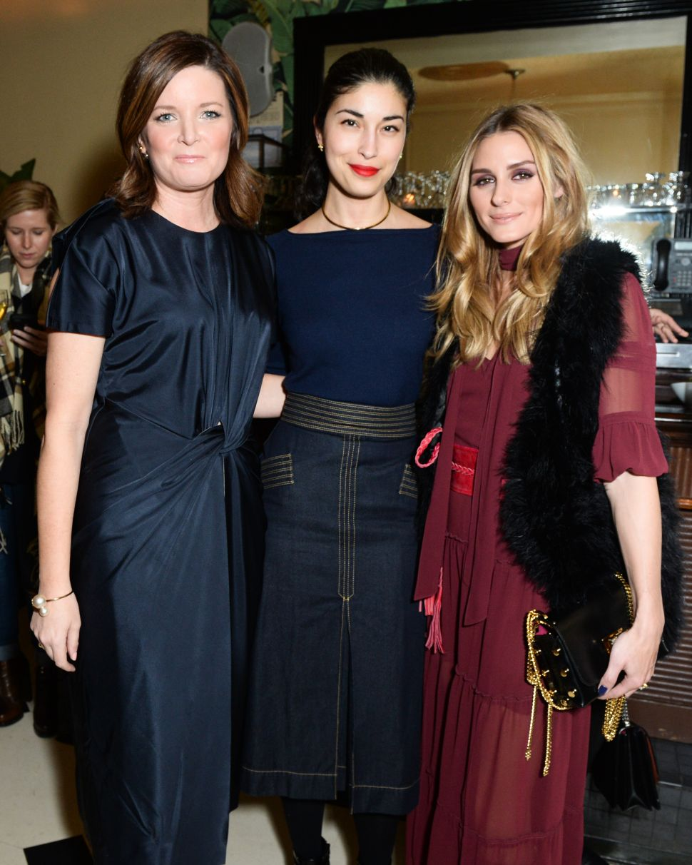 Olivia Palermo, Caroline Issa, Tricia Smith (Photo: BFA).