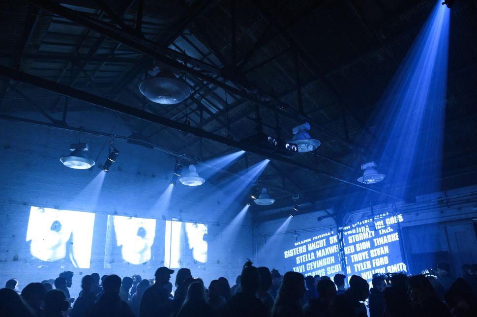 Calvin Klein x Dazed Magazine's warehouse rave in Brooklyn
