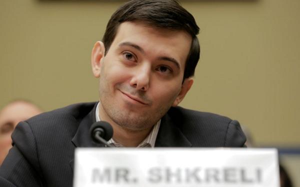 Martin Shkreli smirking his way through a Congressional hearing.