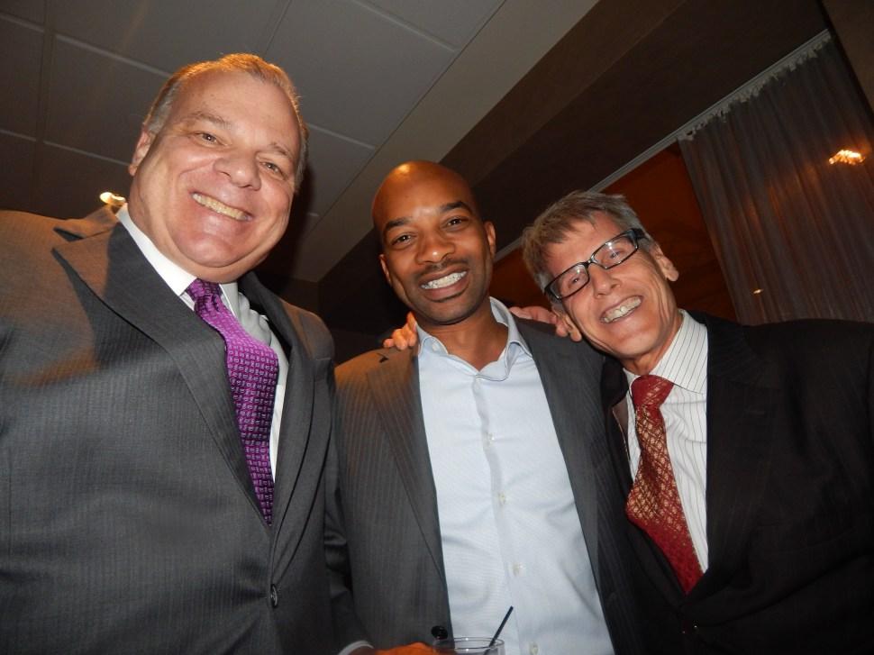 Senate President Steve Sweeney (D-3), Mercury's Mo Butler, and Central Jersey minder Mark Matzen.