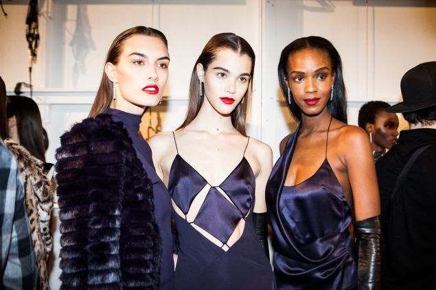 Backstage at Cushnie et Ochs