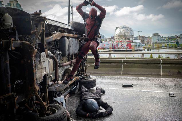 Ryan Reynolds as Deadpool. (Photo: Joe Lederer/Twentieth Century Fox Film Corporation)