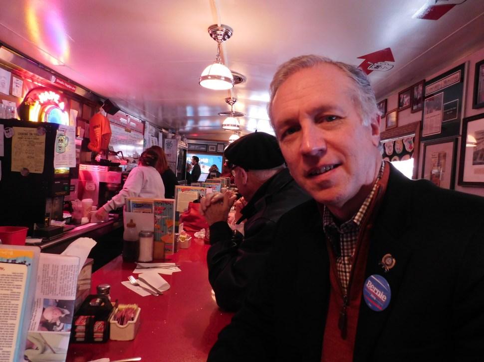 Wisniewski in Manchester's Red Arrow Diner.