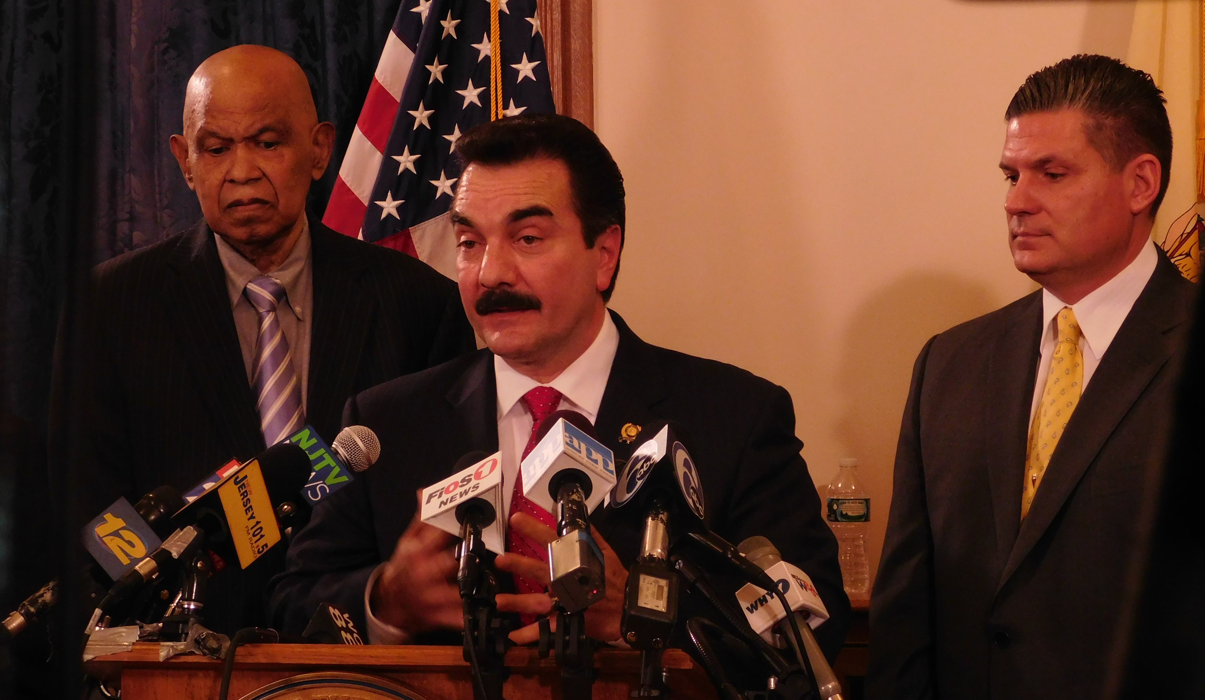 Jerry Green, Vincent Prieto and Lou Greenwald react to Christie's budget address.