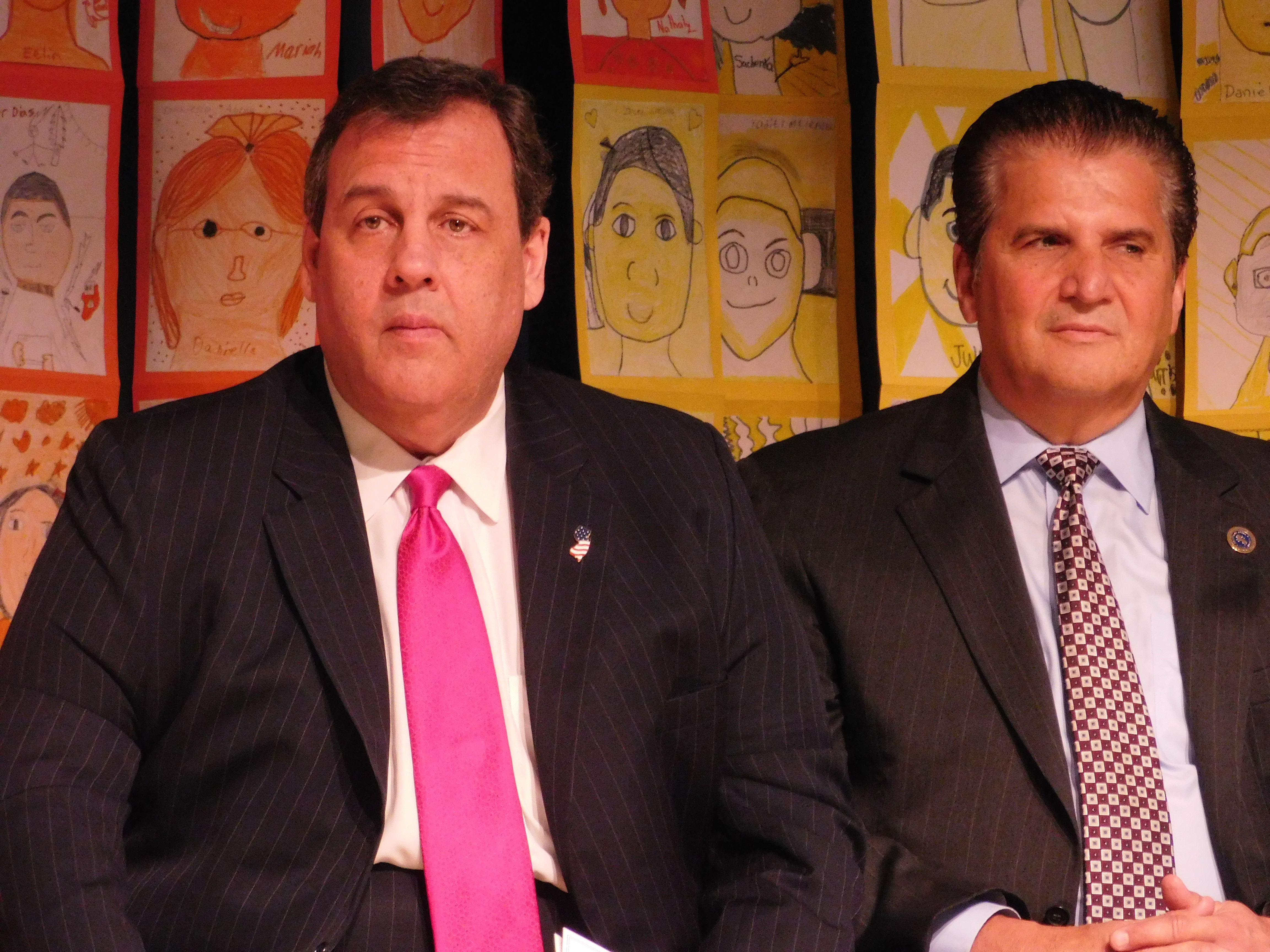 Governor Christie and Joe D at the Elliott Street School.