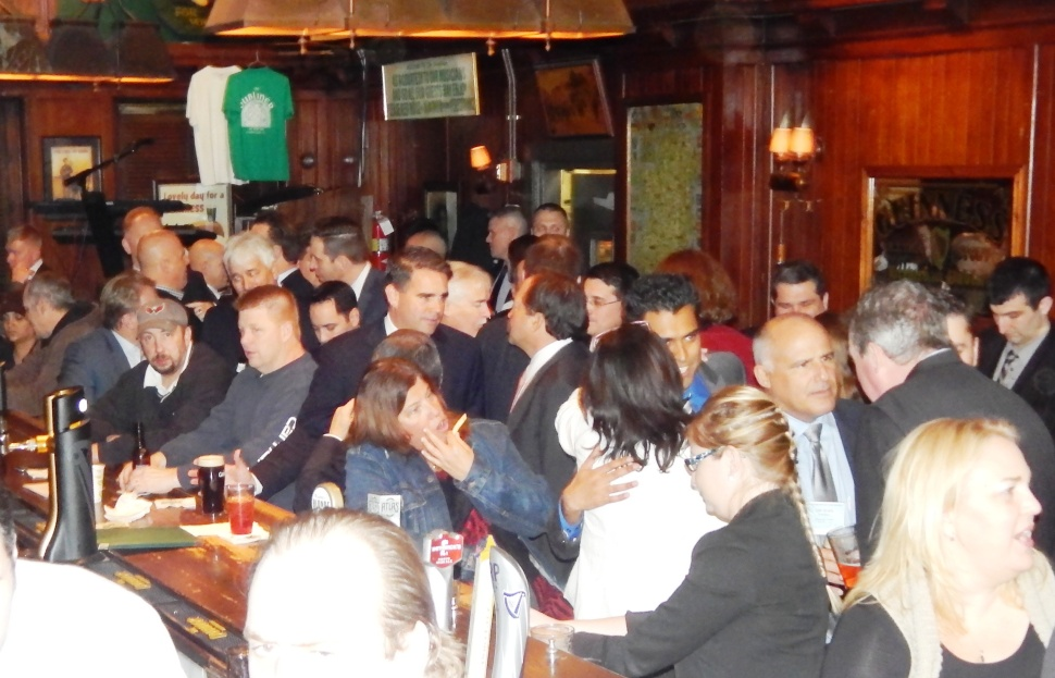 The scene at The Dubliner.