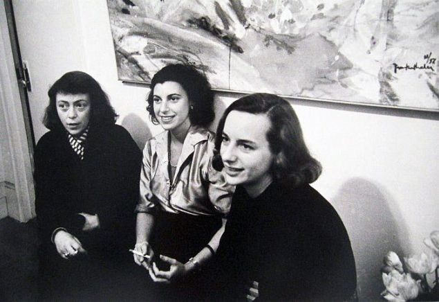 Left to right: Joan Mitchell, Grace Hartigan and Helen Frankenthaler around 1960.