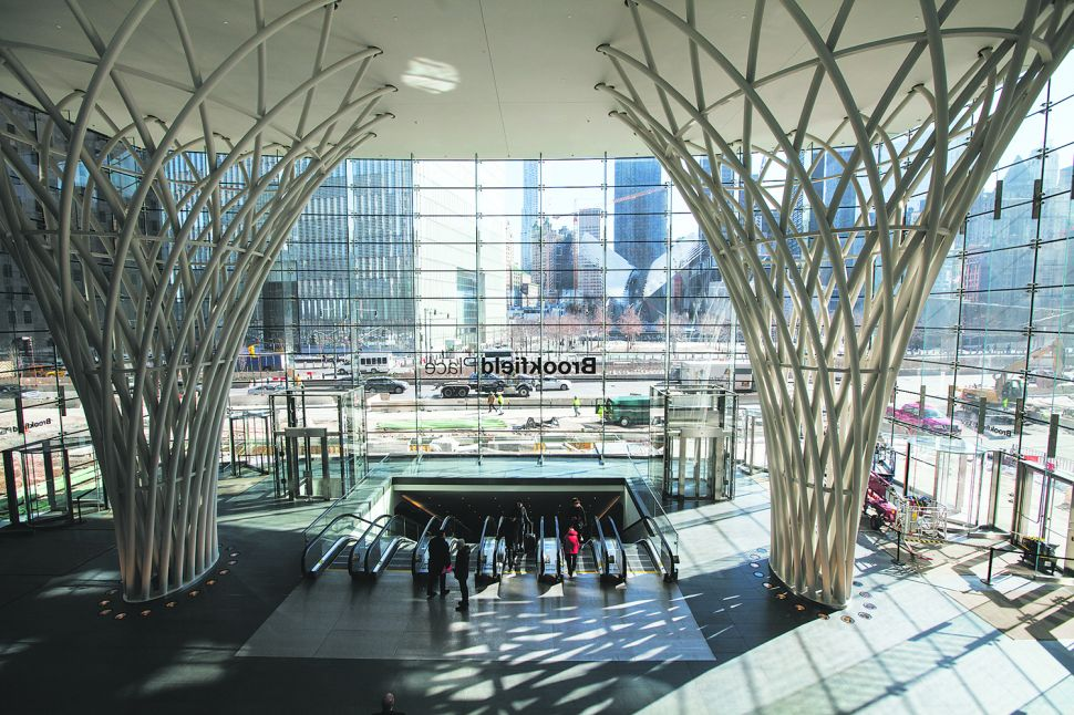 The Lower Atrium of Brookfield Place. (Photo: Emily Assiran for Observer)