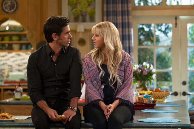 John Stamos and Jodie Sweetin in Fuller House.