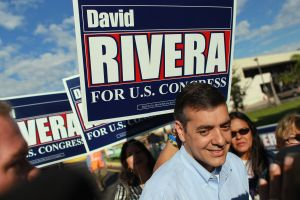 David Rivera at a campaign stop in 2010.