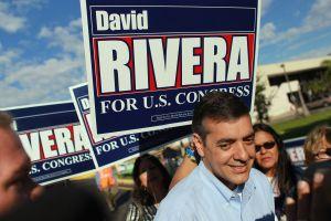 David Rivera at a campaign stop in 2010.