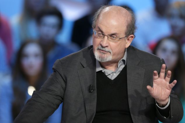 British author Salman Rushdie