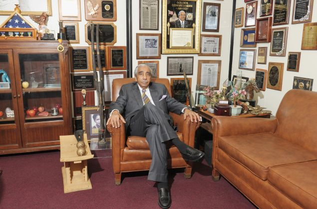 Congressman Charles Rangel in his Harlem office.