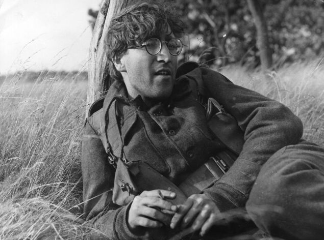 John Lennon in the film 'How I Won the War,' after his haircut in 1966.
