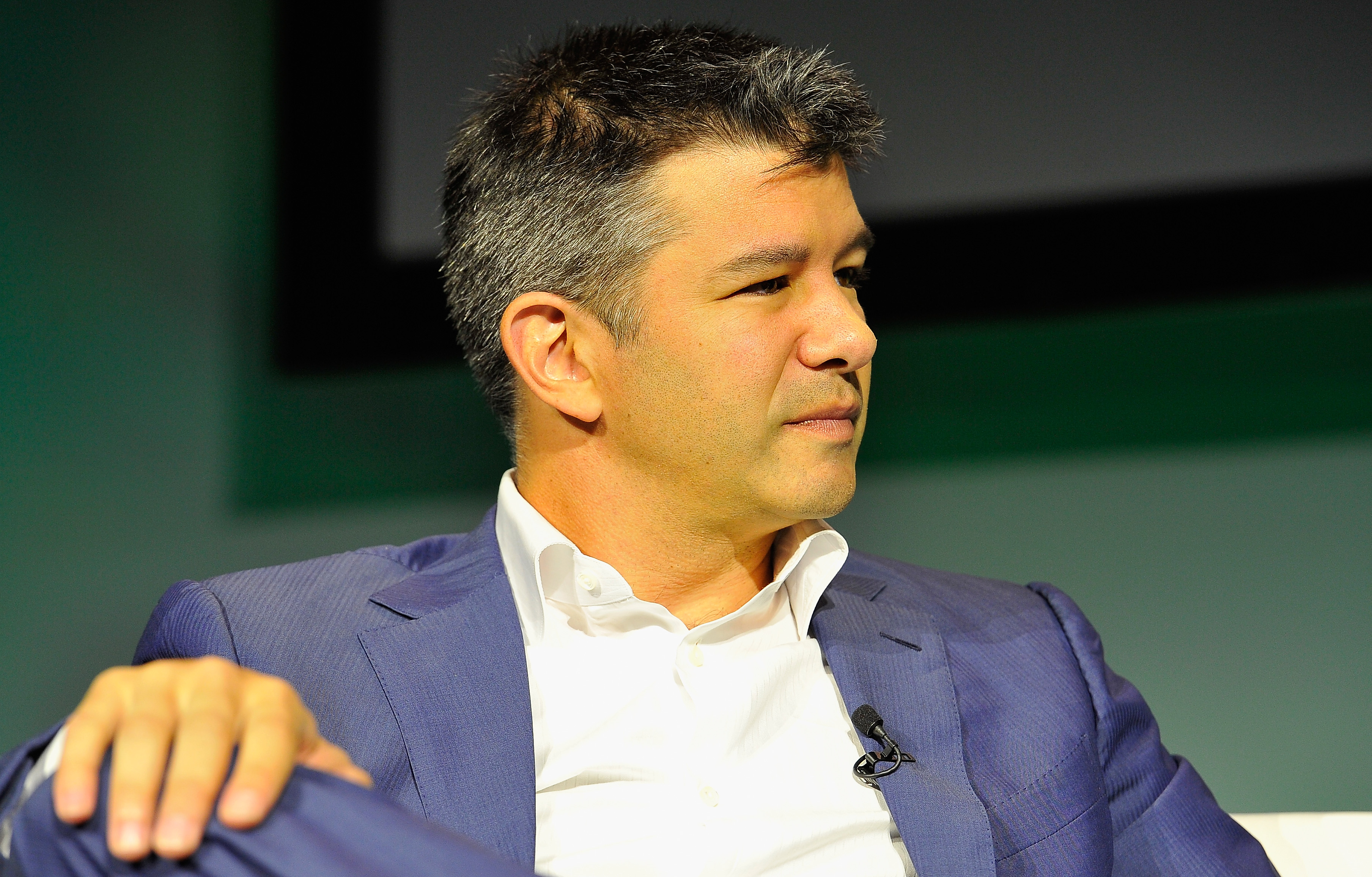 Travis Kalanick speaks onstage at TechCrunch Discrupt on September 8, 2014 in San Francisco, California.