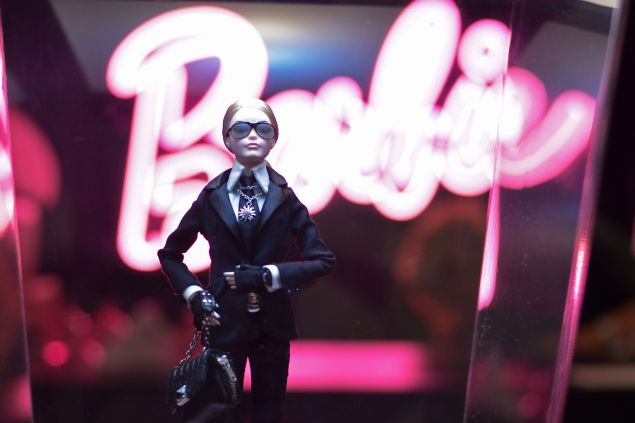 SAO PAULO, BRAZIL - NOVEMBER 03: A Barbie Doll is displayed in the Barbie Experience during Sao Paulo Fashion Week Winter 2015 at Porao das Artes on November 3, 2014 in Sao Paulo, Brazil. (Photo by Studio Fernanda Calfat/Getty Images)