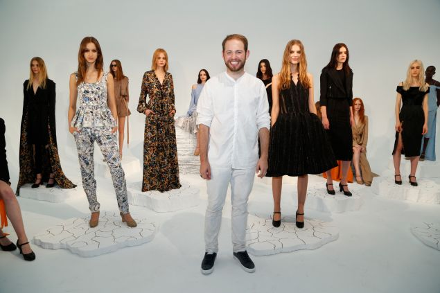 Designer Jonathan Cohen at his Spring 2016 presentation (Photo: Joe Kohen/Getty Images).