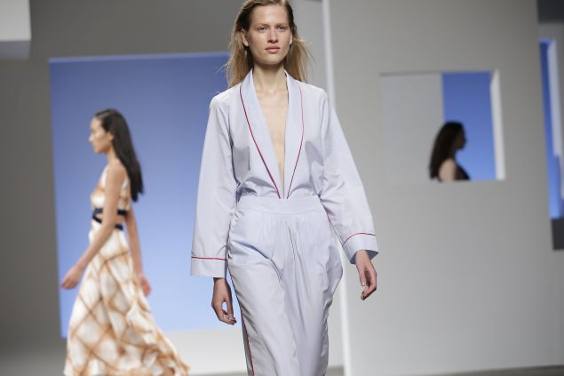 Thakoon's Spring 2016 offering (Photo: Joshua Lott/AFP/Getty Images).