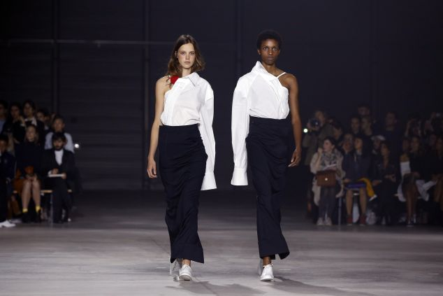 Two looks from the Spring/Summer 2016 Jacquemus range