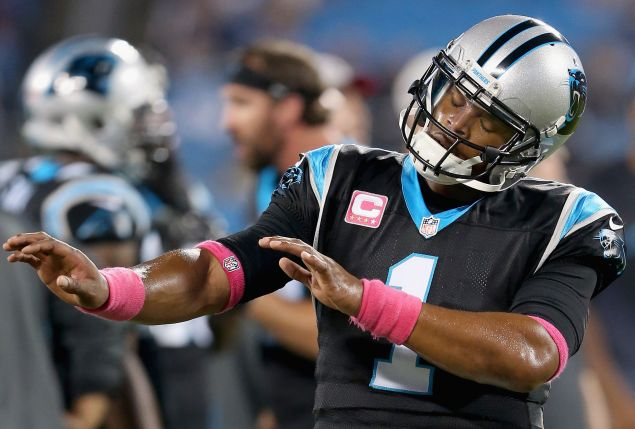 Cam Newton of the Carolina Panthers has much to dance about. (Photo by Streeter Lecka/Getty Images)