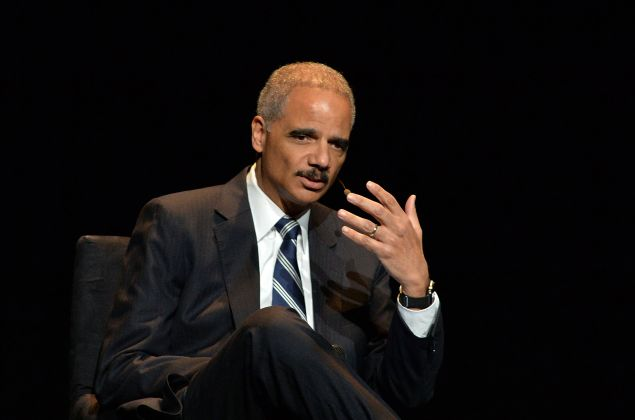 "NEW YORK, NY - JANUARY 29: Eric Holder, Former U.S. Attorney General attends the 2016 ""Tina Brown Live Media's American Justice Summit"" at Gerald W. Lynch Theatre on January 29, 2016 in New York City. (Photo by Slaven Vlasic/Getty Images)"