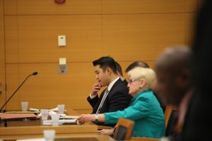 Officer Liang at his trial.