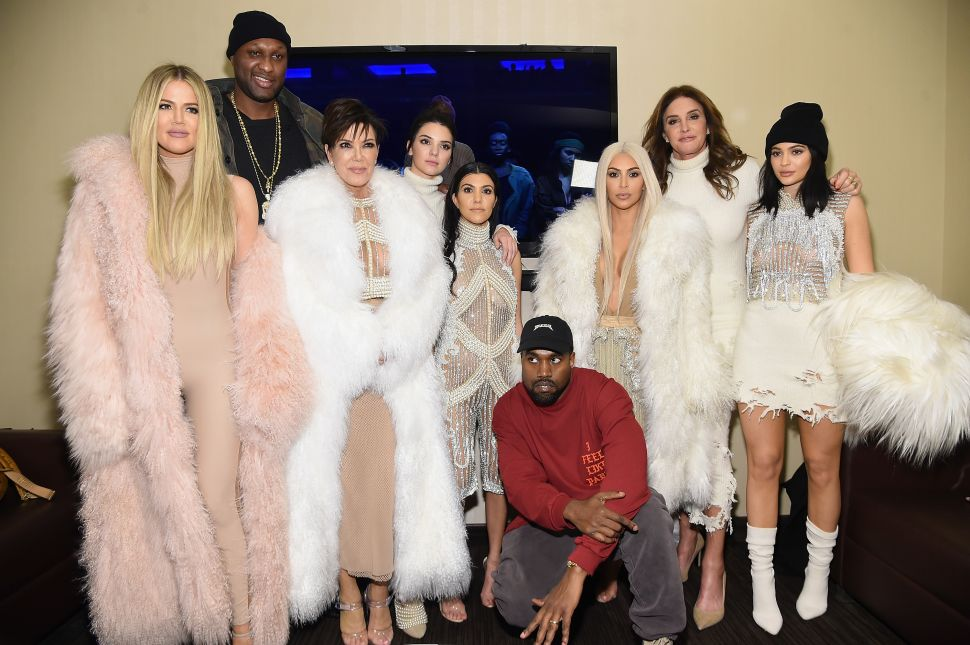 The Kardashain/Jenner Family (Photo by Kevin Mazur/Getty Images for Yeezy Season 3).