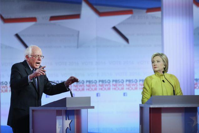 Sen. Bernie Sanders and Hillary Clinton.