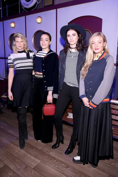 NEW YORK, NY - FEBRUARY 15: (L-R) Alexandra Richards, Chelsea Leyland, Tali Lennox, and Kate Foley attend the Tommy Hilfiger Women's Fall 2016 show during New York Fashion Week: The Shows at Park Avenue Armory on February 15, 2016 in New York City.