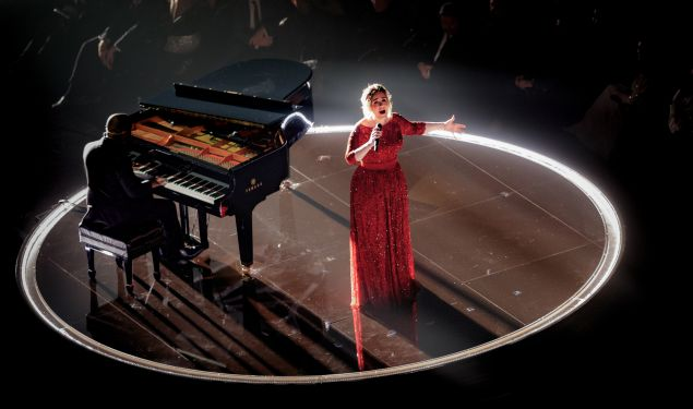 Caption:LOS ANGELES, CA - FEBRUARY 15: Singer Adele performs onstage during The 58th GRAMMY Awards at Staples Center on February 15, 2016 in Los Angeles, California. (Photo by Christopher Polk/Getty Images for NARAS)