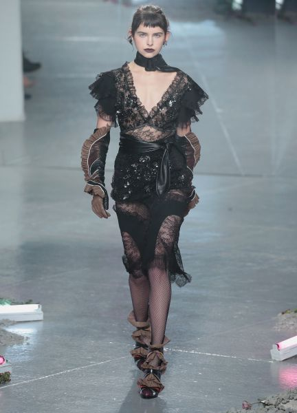 Black lace is anything but subdued