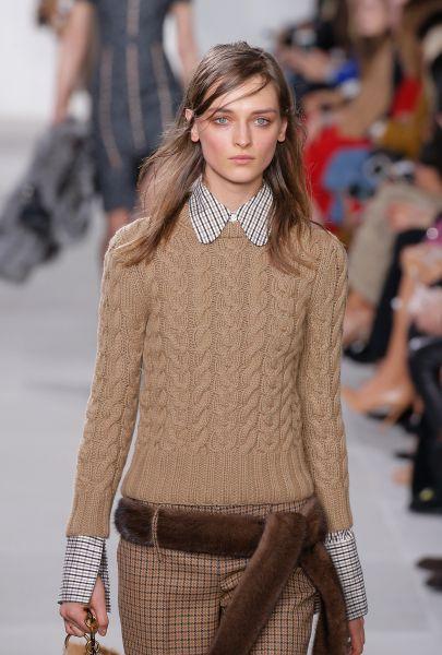 Hand-Knit Cable Cashmere Crewneck Sweater, $1,295, MichaelKors.com