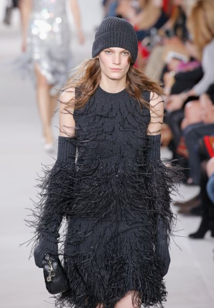 Feather-Embroidered Cashmere Shell, $1,595, Feather-Embroidered Cashmere Skirt , $1,795, All available at MichaelKors.com