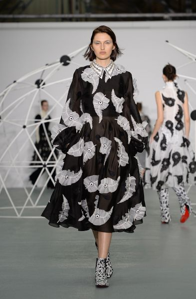 Holly Fulton - Lace and ruffle embellishment to a Bowie soundtrack